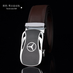 Image 1 - men belt luxury belts for men car logo Casual beltFull leather Famous brand new designer male automatic buckle cow leather