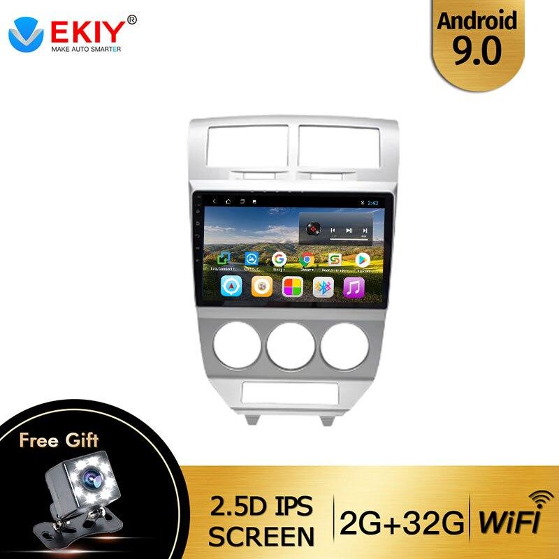 EKIY для Dodge Caliber 2009-2012 Авторадио 2din Android 9 DVD Автомобильный мультимедийный видео плеер стерео навигация GPS головное устройство FM BT
