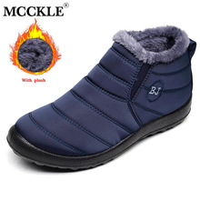 Men Boots Lightweight Winter Shoes For Men Snow Boots Waterproof Winter Footwear Plus Size Slip On Unisex Ankle Winter Boots