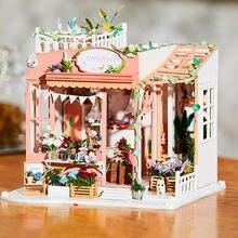 Цветочный деревянный домик «сделай сам» Новогоднее украшение