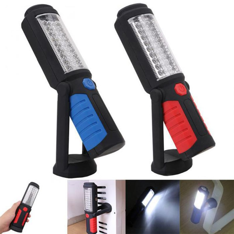 USB Charging 36 Plus 5 LED Work Hand Flashlight Emergency Inspection Torch Light Adhesive Sticky Rechargeable With Hook Portable