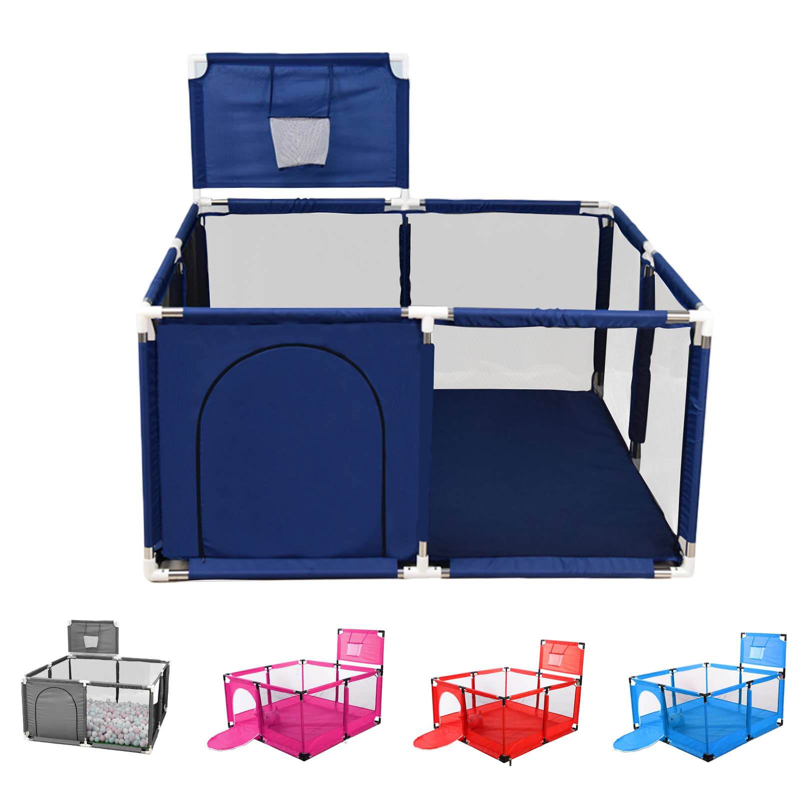 Giant Baby Game Fence With Shooting Frame Breathable Mesh Wall Baby Fence Activity Center Suitable For Indoor And Outdoor