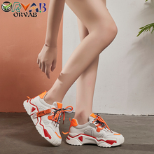 White Platform Sneakers Women High Quality Fashion Designer Shoes Woman Thick Sole Chunky Ladies Casual 2019 New Brand