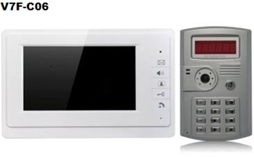 7 Inch Moitor 600TVL  Two Way Intercom ID Card Password Access Control System V70F-C06