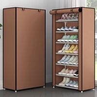 헝겊 커버 신발 랙 공간 절약 작은 신발 주최자 캐비닛 룸 마침 가구 간단한 조립 선반 신발 스토리지