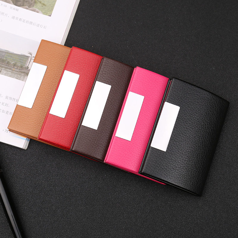 Unique marble pattern Style Fashion Design Personlized Stainless Steel Professional Business Card Holder