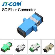 50PCS/lot Metal SC Fiber Optic Adapter metal Simplex Singlemode SM SC UPC connector SC APC multimode MM fiber Coupler