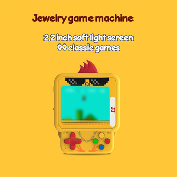 2.2 Inches Mini Jewelry Pendant of New Handheld Game Console 99 In One Games Handheld Game Players Console Bag Accessories 1