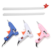 1Pcs/lot 20W Hot Melt Glue Gun With Glue Stick Mini Guns Thermo Electric Heat Temperature Tool For DIY Handicraft Jewelry Making