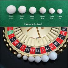 Ball Roulette Game Russian White 5pcs Replacement-Ball Acrylic 12/14/16-/..