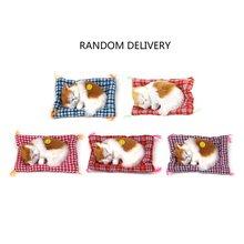 YKS Lovely Small Simulation Animal Craft Dolls Plush Lazy Sleeping Cats Kids Birthday Gift Doll Stuffed Toys for Children цена 2017