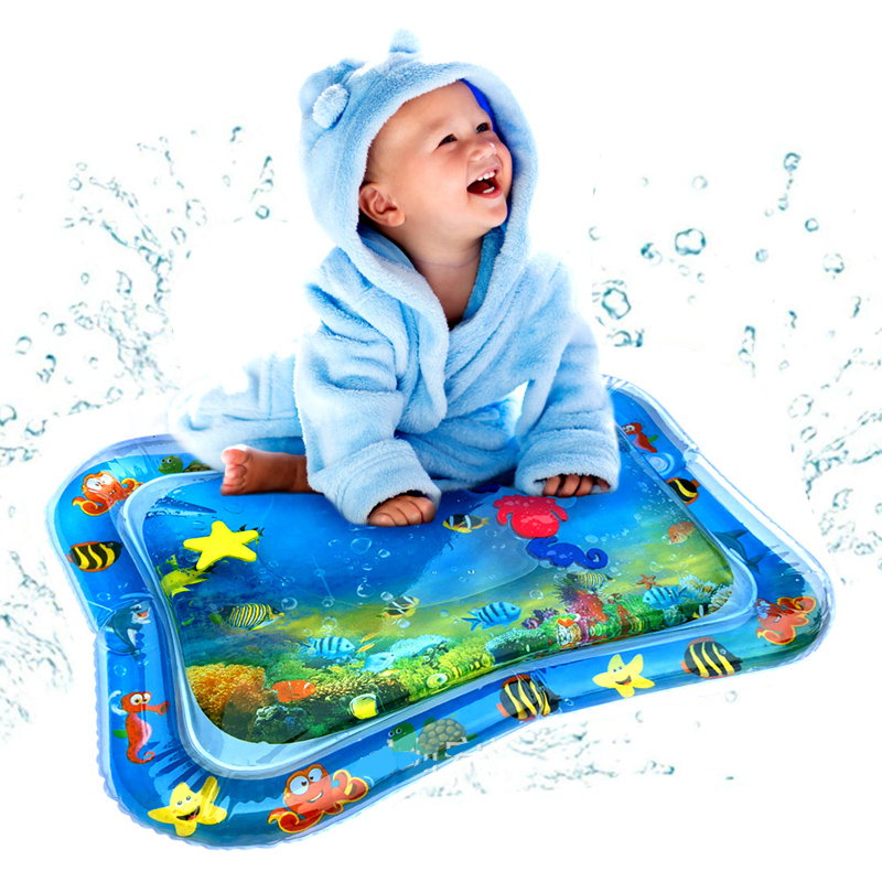 Baby Kids Water Play Mat Inflatable Infants Tummy Time Playmat Playmat Toddler Children & Infants Water Rug Inflatable Mat Fun
