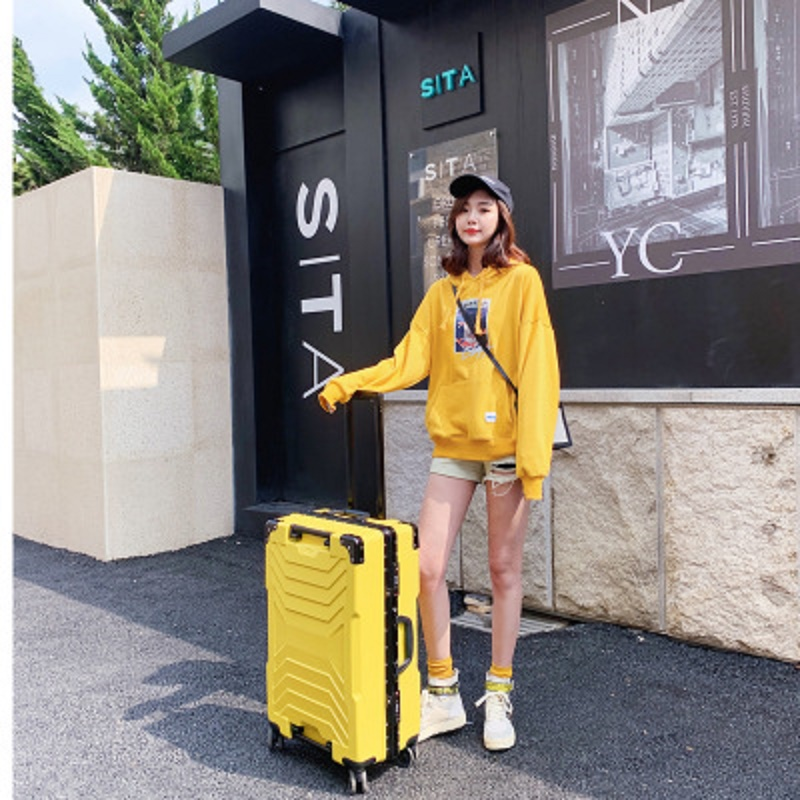 robot 100%  aluminum frame 20/24/26/28 inch size High quality  Rolling Luggage Spinner brand Travel Suitcase