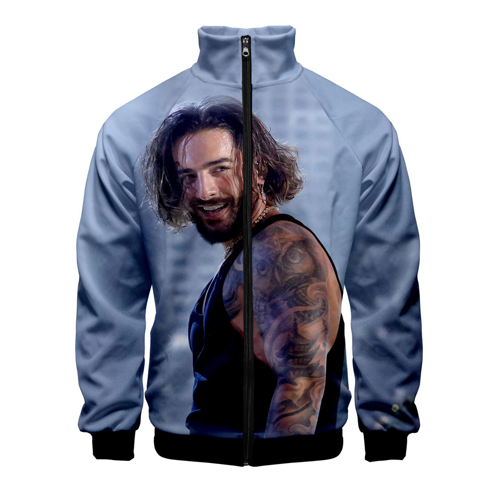 Maluma 2019 New 3D Polyester Hot Slim Fit Windbreaker Men Slim Fit Zipper Fashion Trend Casual  Jacket Windbreaker