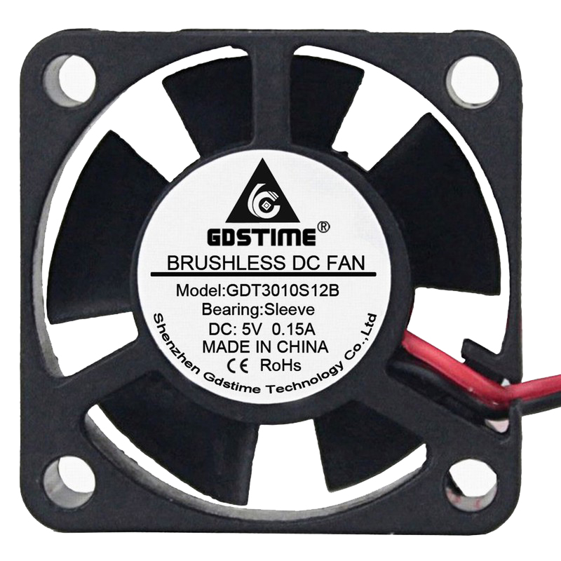 50PCS Gdstime Brushless DC Cooling Fan 3010 3cm 30mm 5V 30x30x10mm 2Pin 5 Blades in Fans Cooling from Computer Office