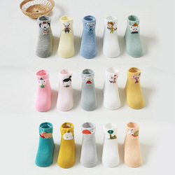 5 Pairs/lot 0 to 4 Years Autumn Winter Thick Socks For Baby Cotton Socks On Boys Girls Infants Newborns Sock Cute Animal Pattern