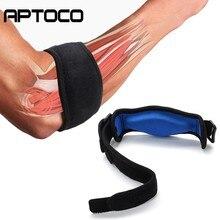 Aptoco esportes de segurança náilon elásticos cotovelo cinta manga basquete tiro almofadas para tênis absorver suor proteção contra a dor lateral
