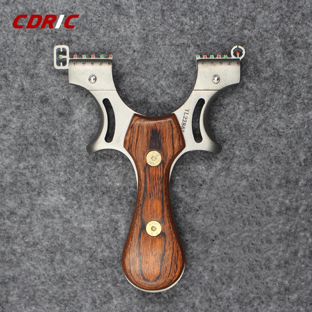 High Precision Slingshot Solid Wood Flat Rubber Band Outdoor Powerful Competition Stainless Steel Slingshot Shooting Hunting Bow