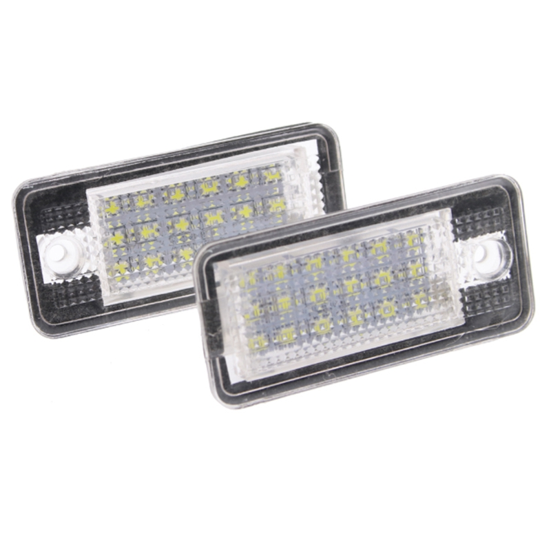 Light for Car,Led License Number Plate Light Fit <font><b>Audi</b></font> A3 A4 A6 <font><b>A8</b></font> B6 B7 S3 Q7 image