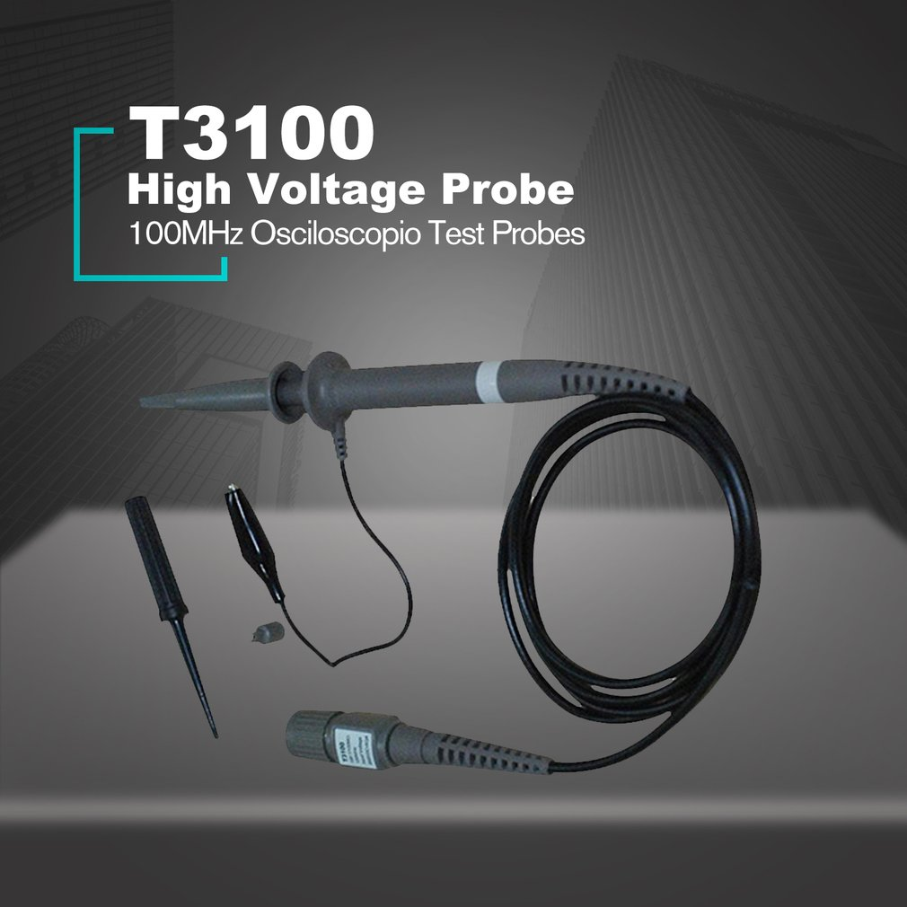 Hantek T3100 100:1 High Voltage Oscilloscope Probe 100MHz 2500V BNC Interface Osciloscopio Test Probes