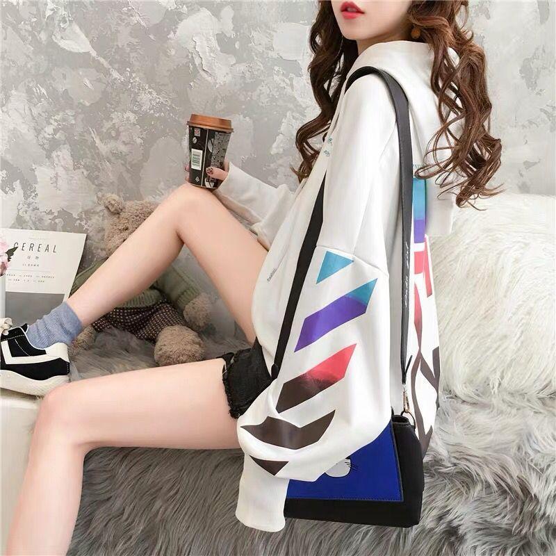 Timis Li Spring&Autumn Streetwear Arrows Printing Hoodies Pullovers Fashion Harajuku Hoodie Women Dropping Should  Sweatshirt