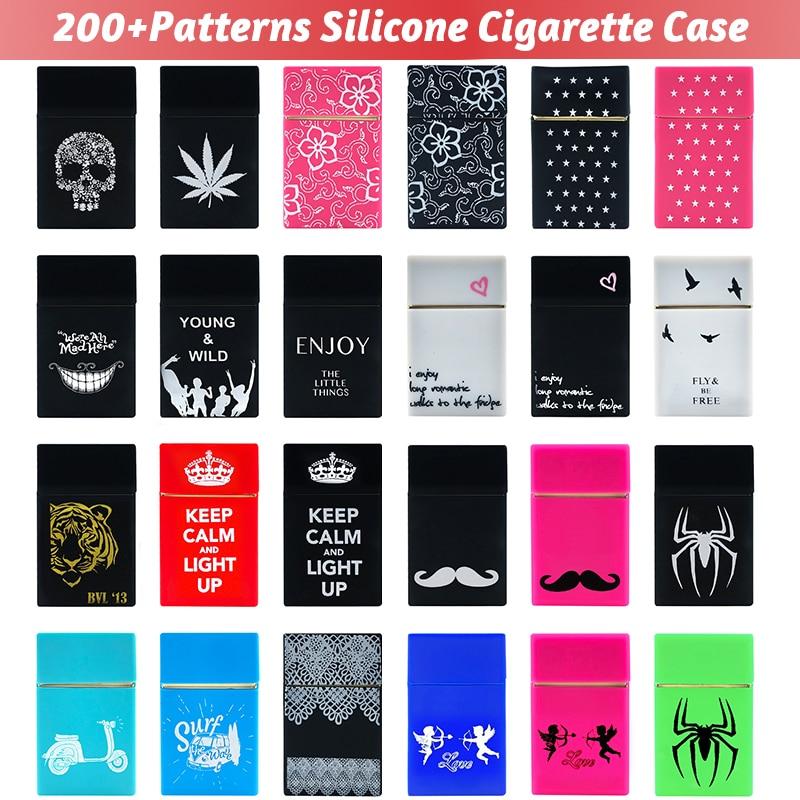 Holds 20 Cigarettes Personality Silicone Cigarette Case Fashion Cover Elastic Rubber Portable Man Women Cigarette Box Sleeve