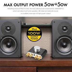 Image 2 - Nobsound mini amplificador bluetooth 2020 tpa3116, amplificador digital, hifi stereo, sem fios, receptor de áudio para carro, 5.0