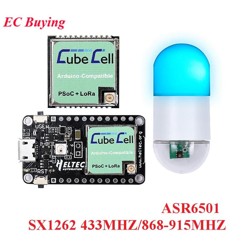 ASR6501 SX1262 LoRaWAN carte de développement adaptateur CubeCell capteur Module ASR650x Wifi 868MHZ 915MHZ 433MHZ pour Arduino LoRa Node