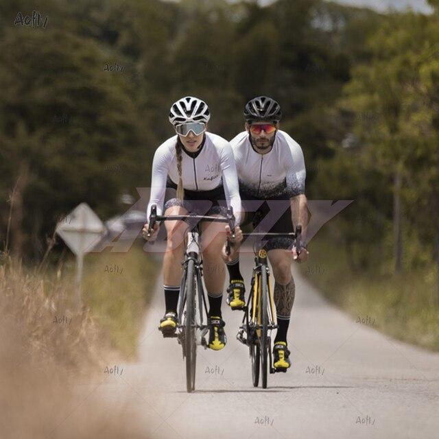 Kafitt jasper coleção manga longa ciclismo skinsuit pro feminino bicicleta macacão uniforme ciclismo triathlon ciclismo skinsuit 2