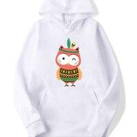 2019 Winter Hoodies Women Sweatshirt Animal Owl Hood Tops Carry Cat Breathable Pullover Blouse Sweatshirts Sudadera Mujer