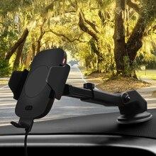 Rápido coche inalámbrico cargador y inducción automática coche soporte de teléfono para aire acondicionado cuna para iPhone/11/XS/X Samsung S10 S9 S8 S7