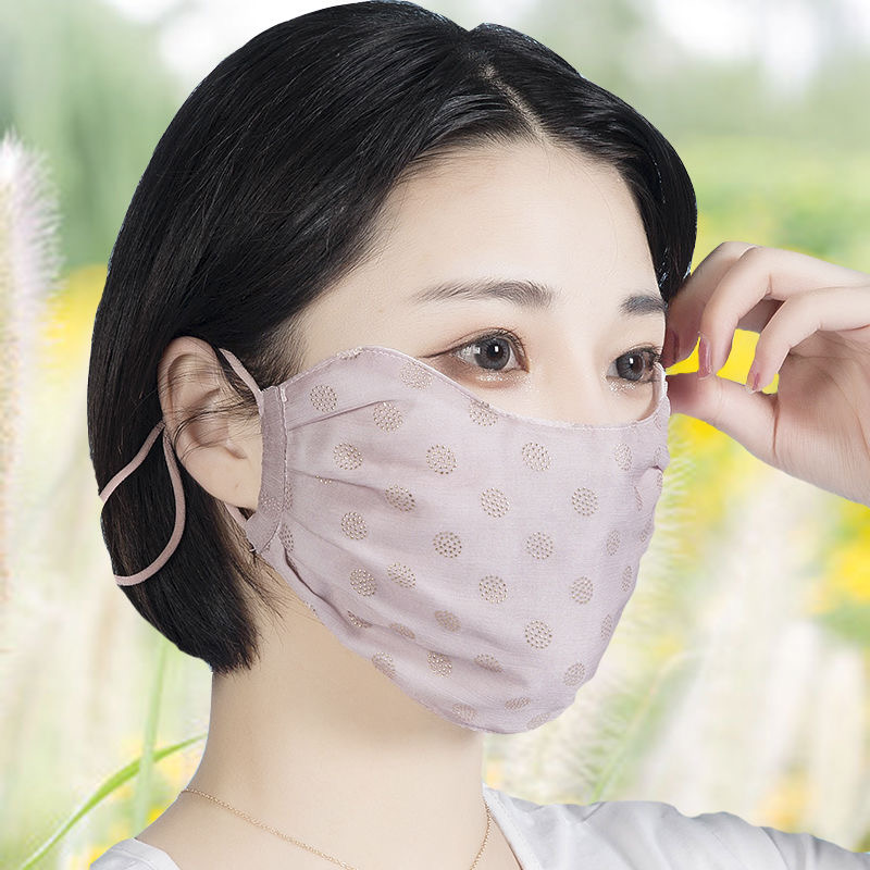 High-grade Cute Personality Fashion Summer Thin Sunscreen Breathable Cotton Windproof Washable Masks