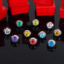 Anime anéis ajustáveis uchiha sasuke itachi sharingan akatsuki organização cosplay anel para homens jóias presente