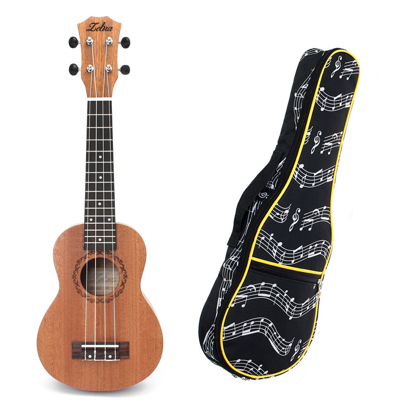 Spring 21 Inch 15 Frets Mahogany Soprano Ukulele Guitar Sapele Rosewood 4 Strings Hawaiian And 21 Inch Ukulele Bag Guitar Kit