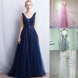 Dress Fame Bridesmaid Marriage Dinner Elegant Women's New of Lace Banquet-Ball