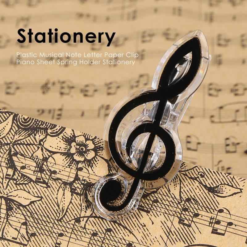 Plastik Musik Catatan Surat Kertas Klip Musik Piano Kertas Kertas Lembar Spring Pemegang Folder untuk Piano Gitar Biola Alat Tulis