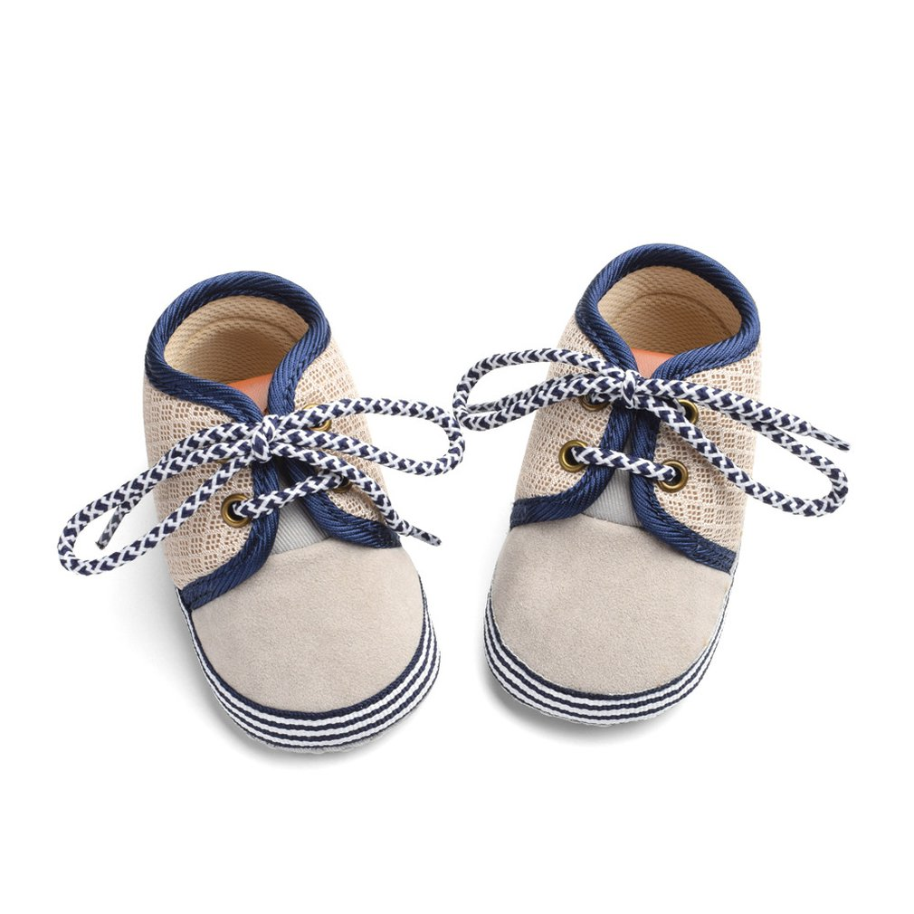 OUTAD Newborn Baby Shoes Infant Kids First Walkers Toolder Soft Bottom Anti-Slip Lace-up Baby Boys Girls Shoes Prewalker 3-15 M