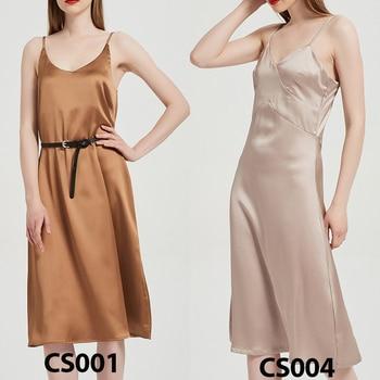 Toppies 2021 Women Satin Dress Party Luxury Shiny Sundress Sexy Imitation Silk Fashion Ladies Dress 3