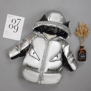 baby boy winter jackets 2018 kids hooded cotton outerwear parka coat clothes for teen boys 5 6 7 8 9 10 11 12 13 14 years old Fashion Winter Heavyweight Shiny Cotton Child Coat Warm Baby Girls Boys Jacket Children Outerwear Kids Outfits For 1-5 Years Old