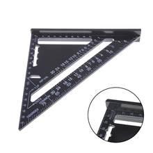 7 polegadas triângulo ângulo transferidor liga de alumínio velocidade praça régua medição mitra para enquadramento edifício carpinteiro ferramentas medição