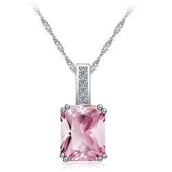 Collar de estilo coreano, joyería, collar de circonio de fiesta rosa, venta de collar de joyería