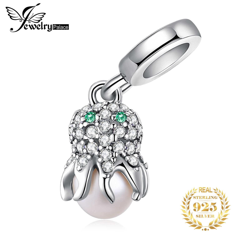 Jewelrypalace 925 prata esterlina octopus grânulos encantos prata 925 original apto pulseira de prata 925 contas originais jóias fazendo
