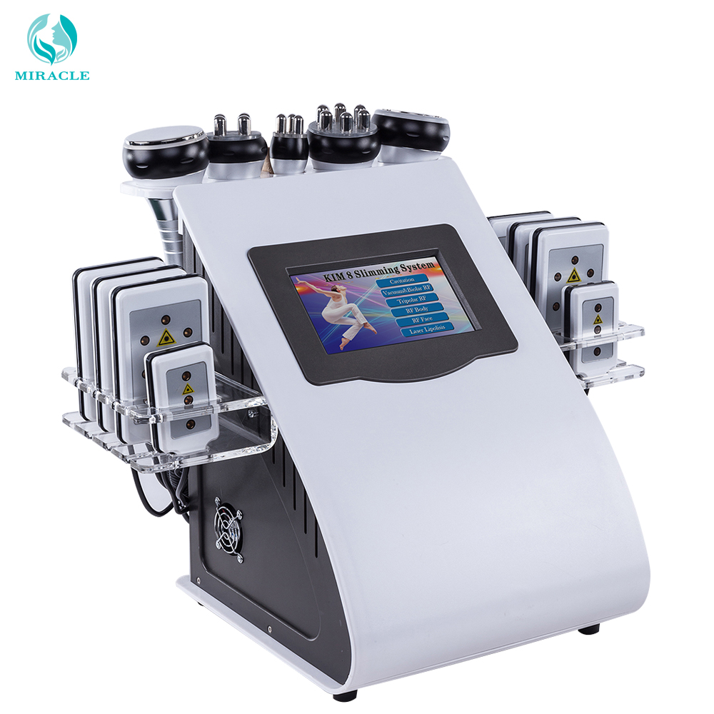 New Design New Model 40k Ultrasonic Liposuction Cavitation 8 Pads LLLT Lipo Laser Slimming Machine Vacuum RF Skin Care Salon Spa