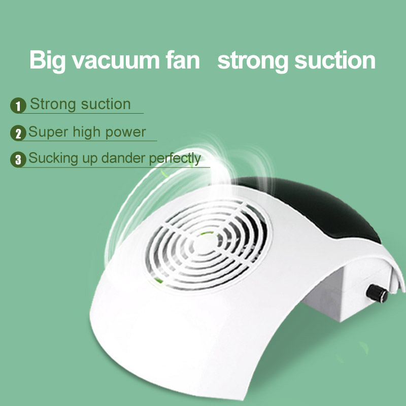 Nail Dust Collector 80W Powerful Nail Vacuum Cleaner Manicure Tools With Collecting Bags Manicure Machine Nail Salon