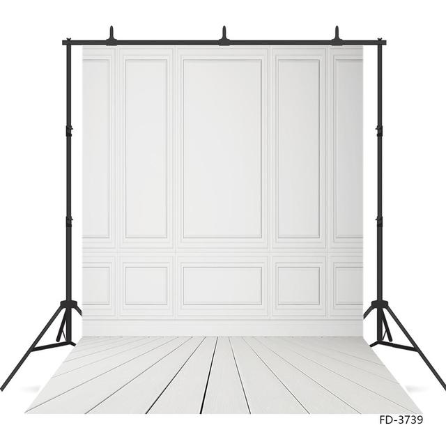 Empty Room White Photography Backdrops for Photocall Vinyl Photoshoot Background for Wedding Children Baby Indoor Photo Studio