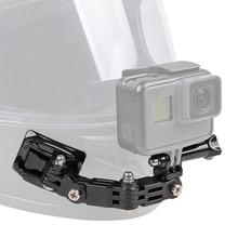 21in1 Front Side Helmet Accessory Set J hook Buckle Base Support Mount for GoPro Hero 9 8 7 6 5 Yi 4K Sjcam Eken for Go Pro Kits