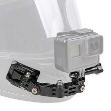 21in1 ensemble daccessoires de casque latéral avant j crochet boucle Support de Base pour GoPro Hero 9 8 7 6 5 Yi 4K Sjcam Eken pour Kits Go Pro
