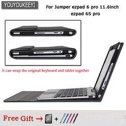 Oryginalny stojak biznesowy Pu skórzany pokrowiec na tablet Jumper ezpad 6 pro / 6s pro 11.6 cala  chroni klawiaturę i tablet