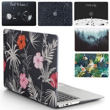 Чехол для ноутбука Apple MacBook Air Pro Retina 11 12 13 15 для mac book Pro 13,3 15,4 дюймов с сенсорной панелью+ чехол для клавиатуры