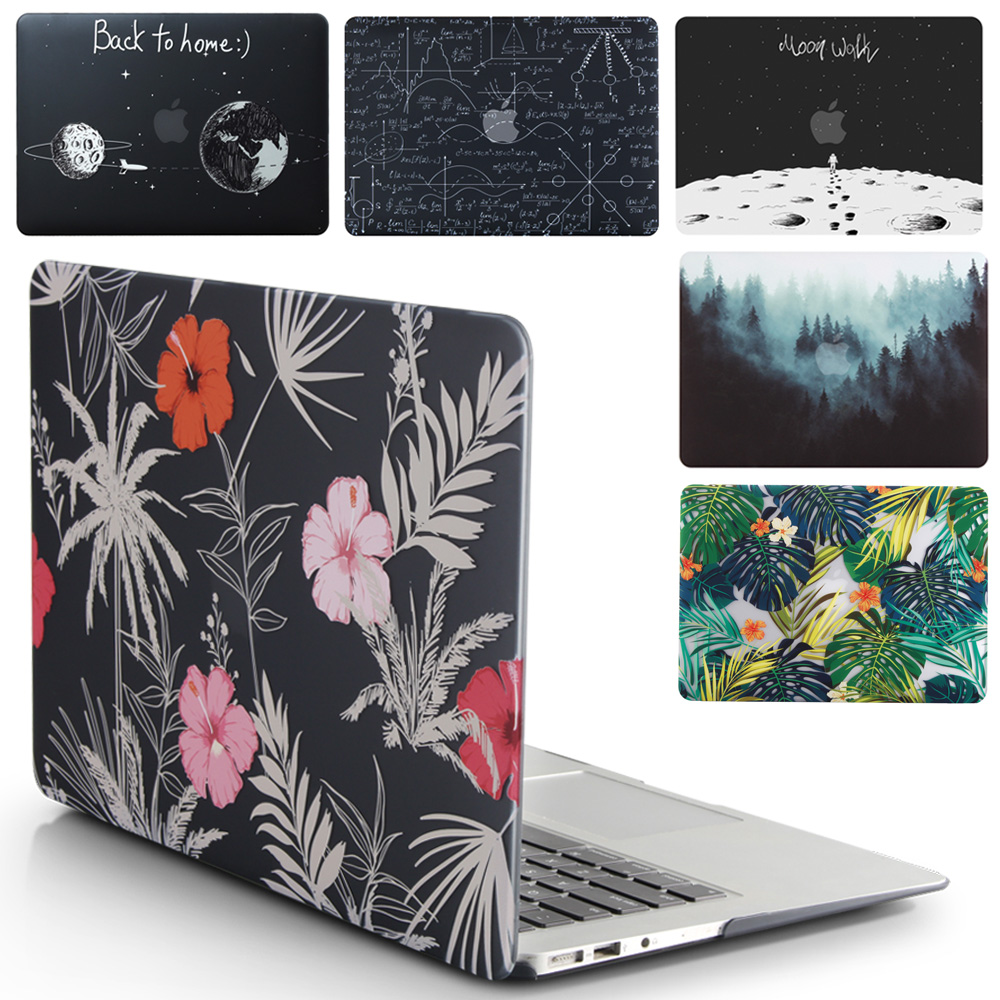 Novo Caso de Laptop Para Apple MacBook Air Pro Retina 11 12 13 15 para mac book Pro 13.3 15.4 polegada com Barra de Toque + Tampa Do Teclado